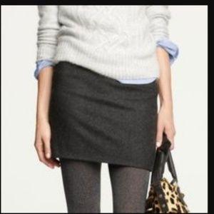 J Crew Felted Wool Mini Skirt